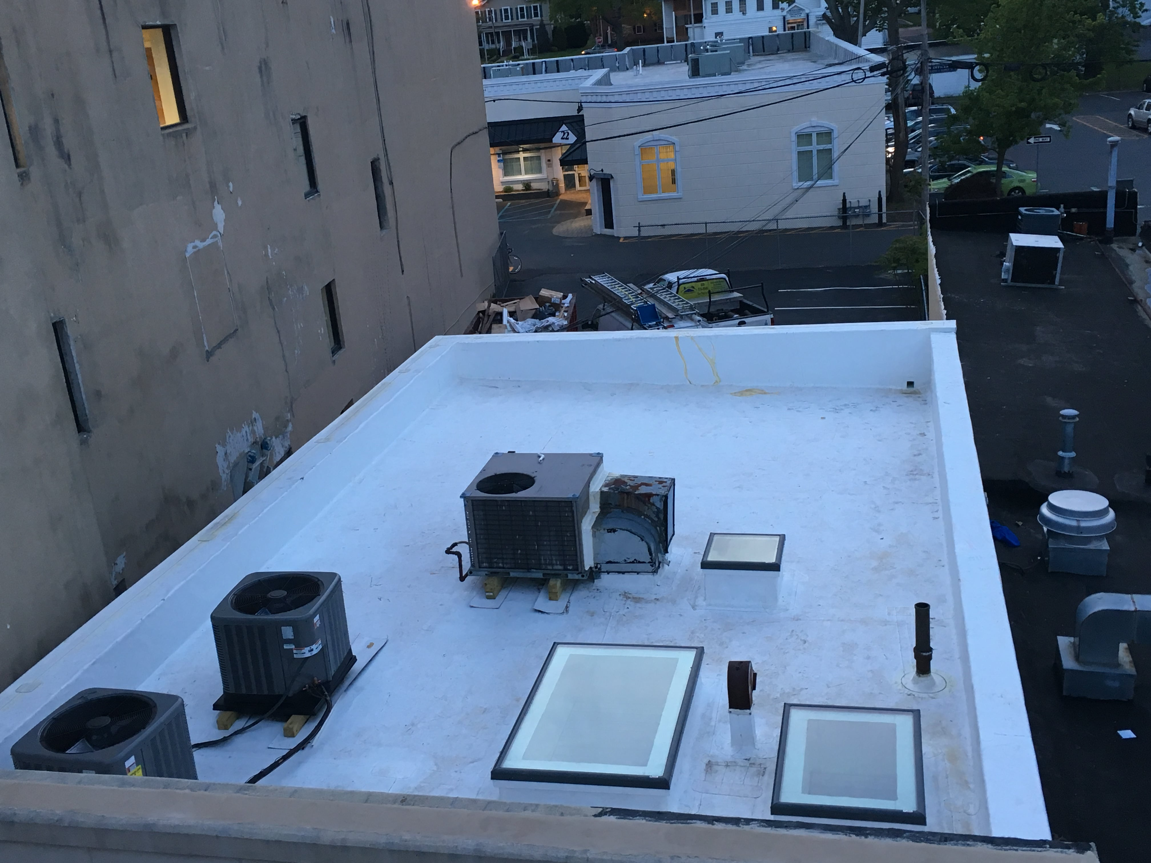 TPO roof installation flat roof